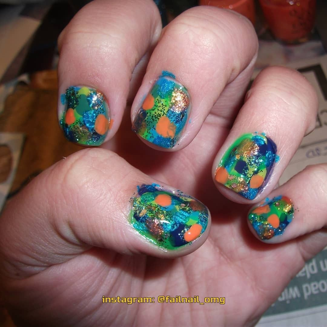 Pin By Failed Manicure Neudachnyj Ma On Crazy Nails Art In 2020 Crazy Nail Art Manicure Fail Nails