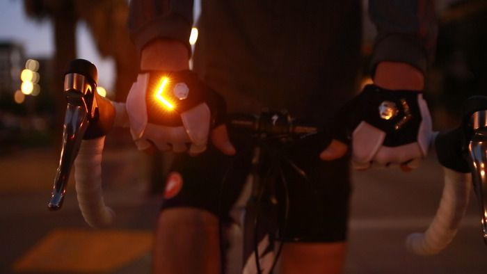 Image result for Turn Signal Gloves for Cycling