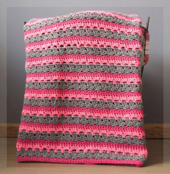Haakpatroon Drie Kleuren Deken Crochet Baby Blanket Crochet