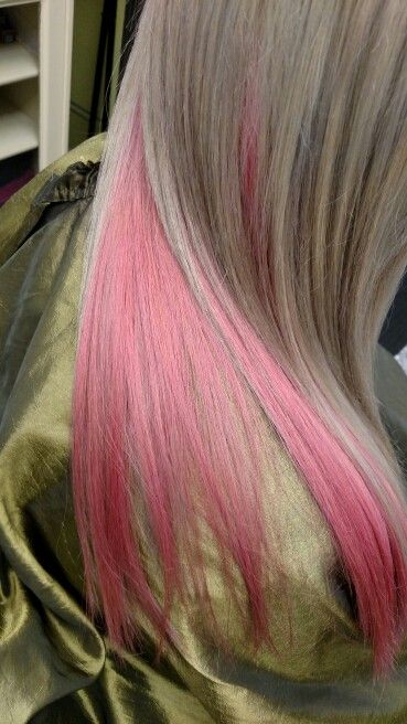 Ash Blonde With Pink Underneath Twistedhairstylist Pink
