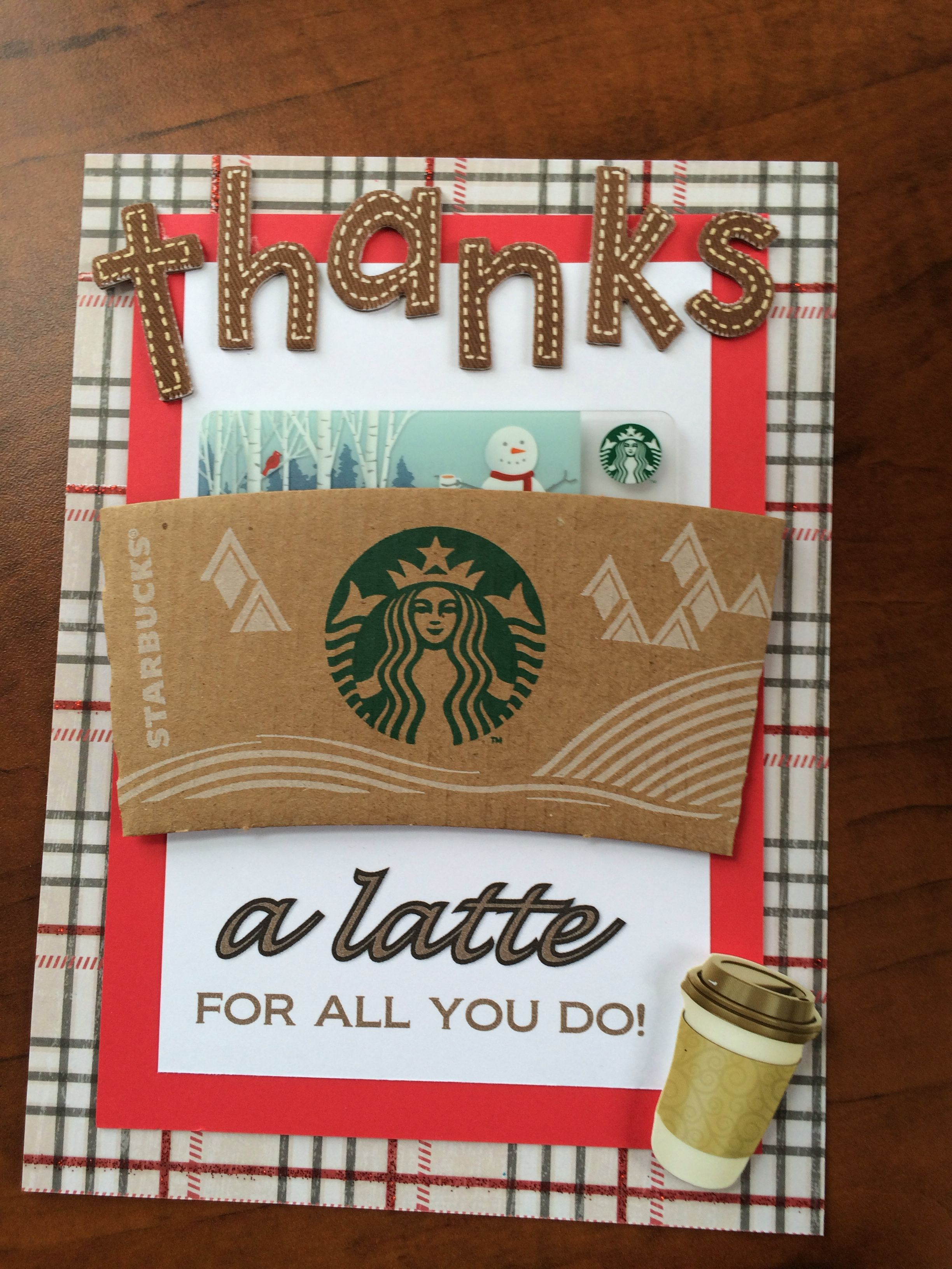 Starbucks Gift Card, Holiday Thank You Gifts