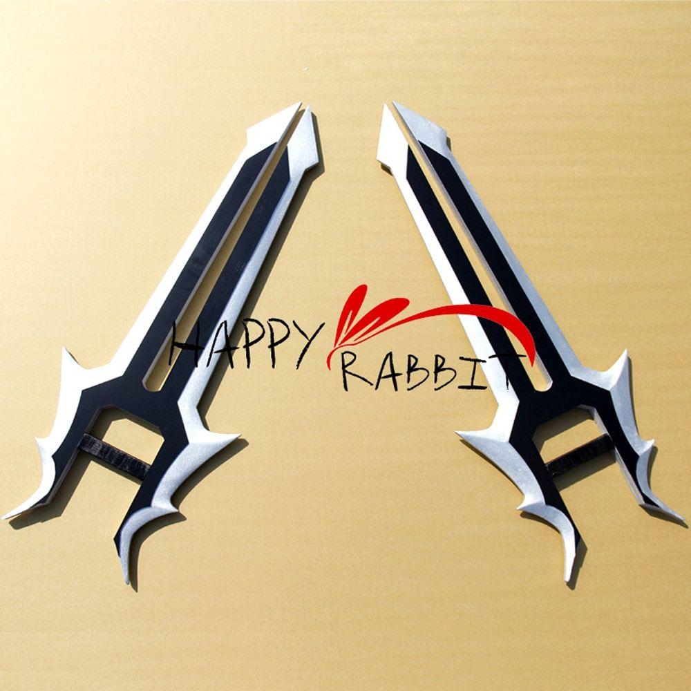 RO Assassins Cosplay Carbon Steel Replica Ragnarok Katar Sword
