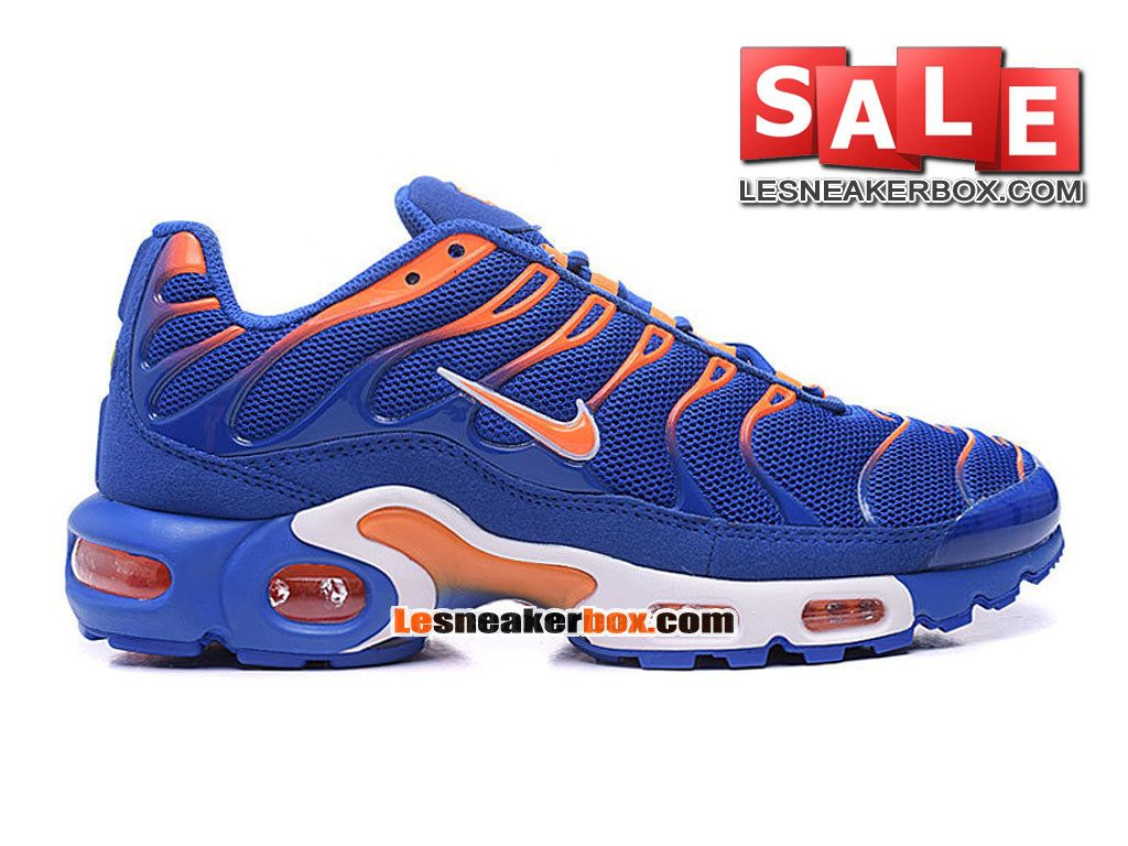 newest 9115a 846cb NIKE AIR MAX TN TUNED REQUIN 2016 - CHAUSSURES NIKE SPORTSWEAR PAS CHER  POUR HOMME Bleu royal Orange total Blanc 604133-801