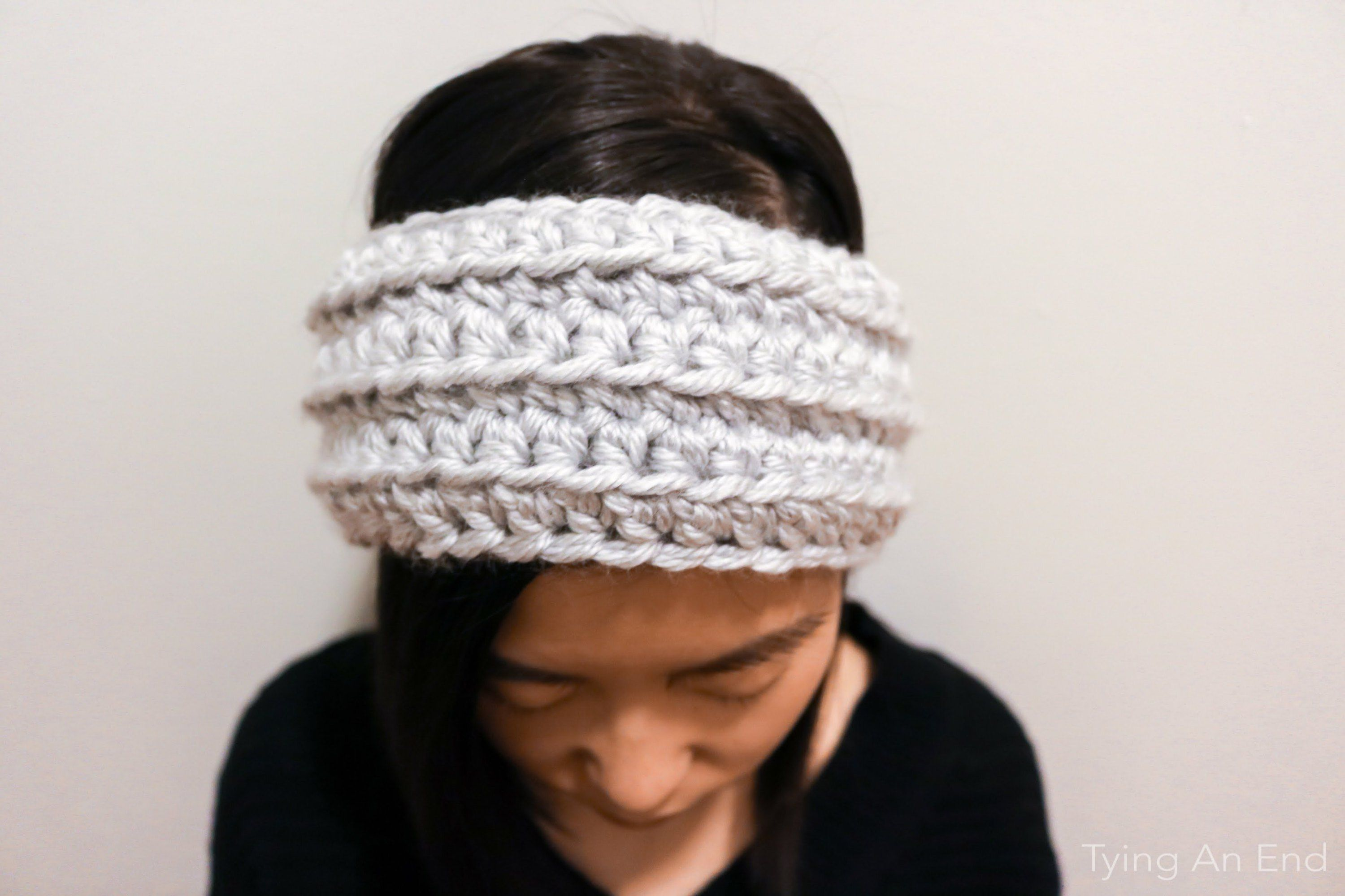 Free Crochet Pattern] Eve Crochet Headband by Tying An End | Crochet ...