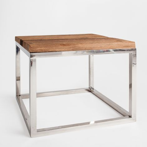 Metal and wood table occasional furniture zara home for Table zara home