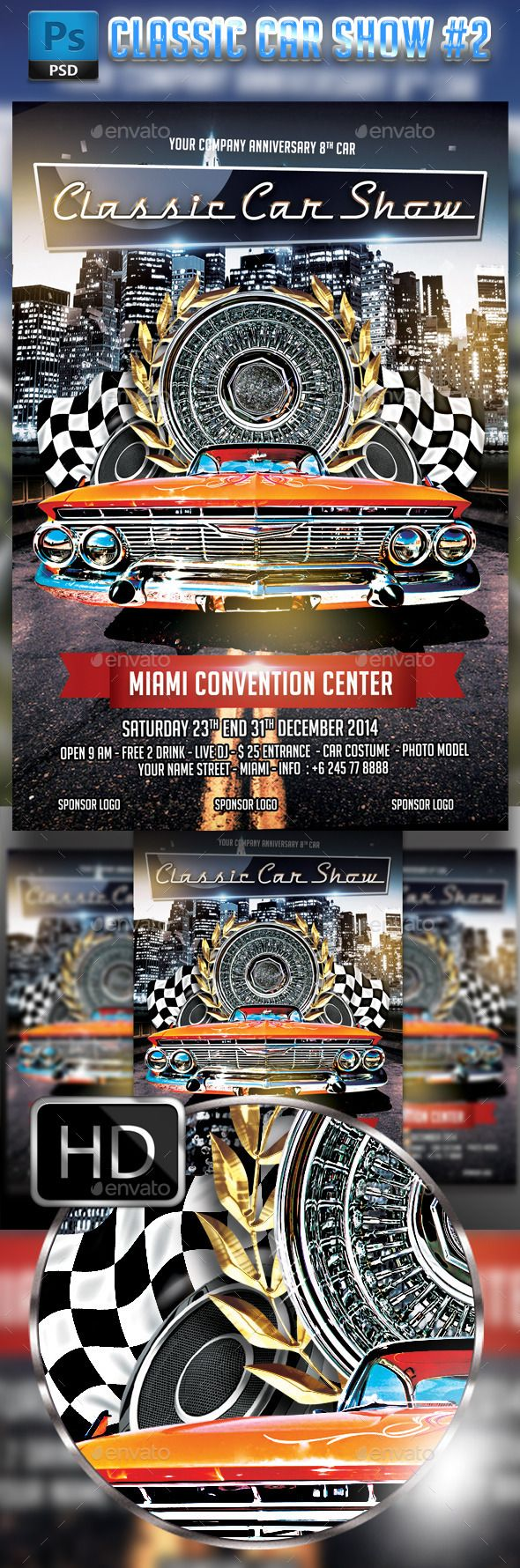 car show flyer template