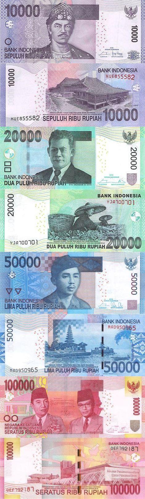 Indonesia 10,000-20,000-50,000-100,000 Rupiah 2016 | #World