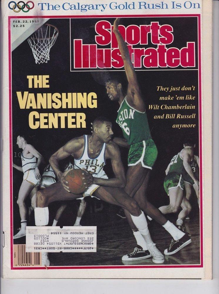 wilt chamberlain & bill russell february 22 1988 sports