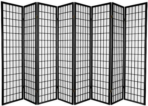 Japanese Oriental Style Room Screen Divider Black 8 Panel Square Furniture Http
