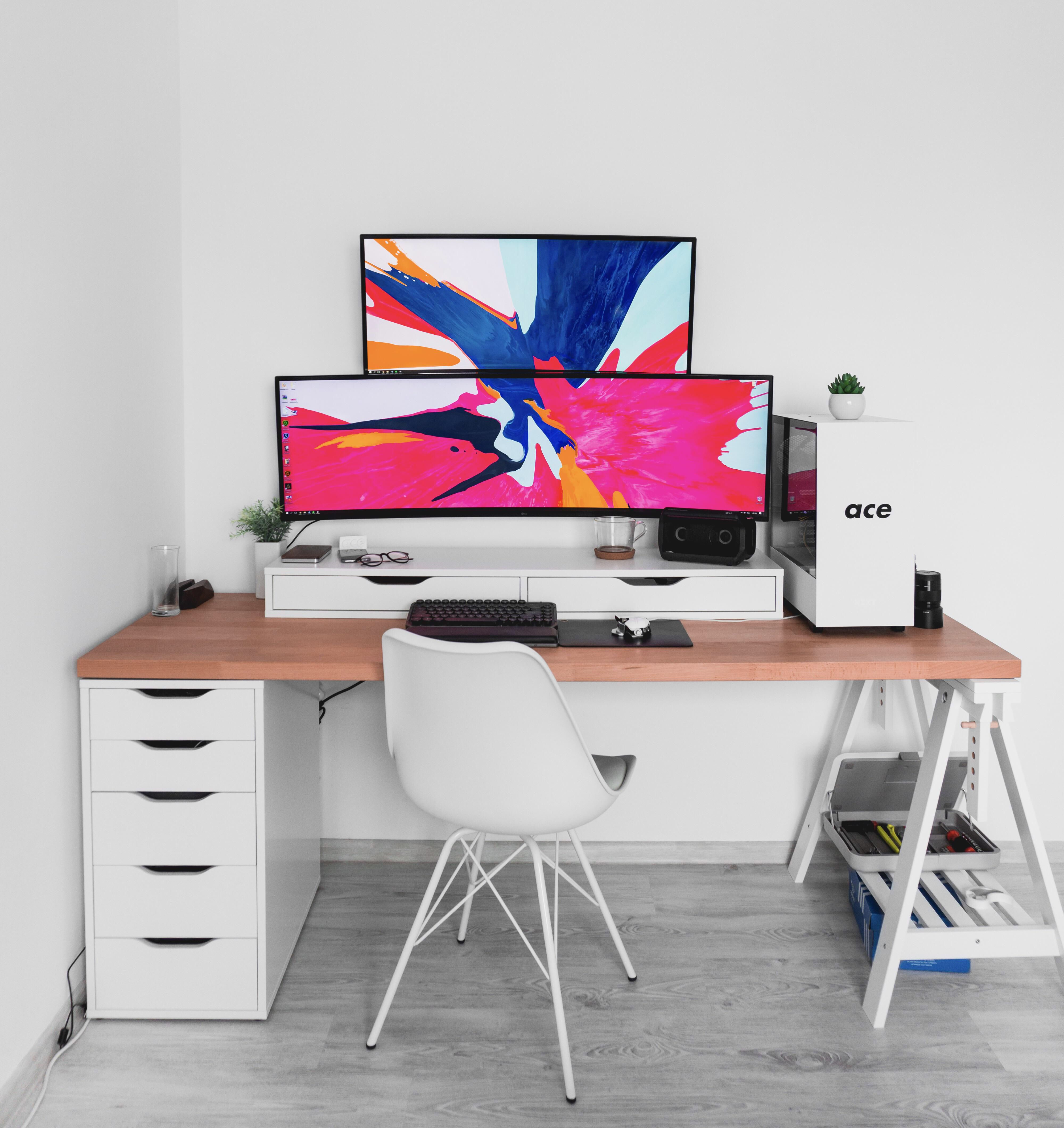 Idea By Vip On S P A C E Home Office Setup Clean