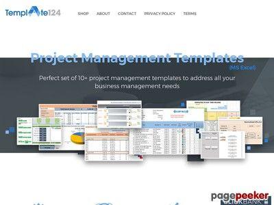 Product Name Project Management Templates Bundle \u2013 Template124