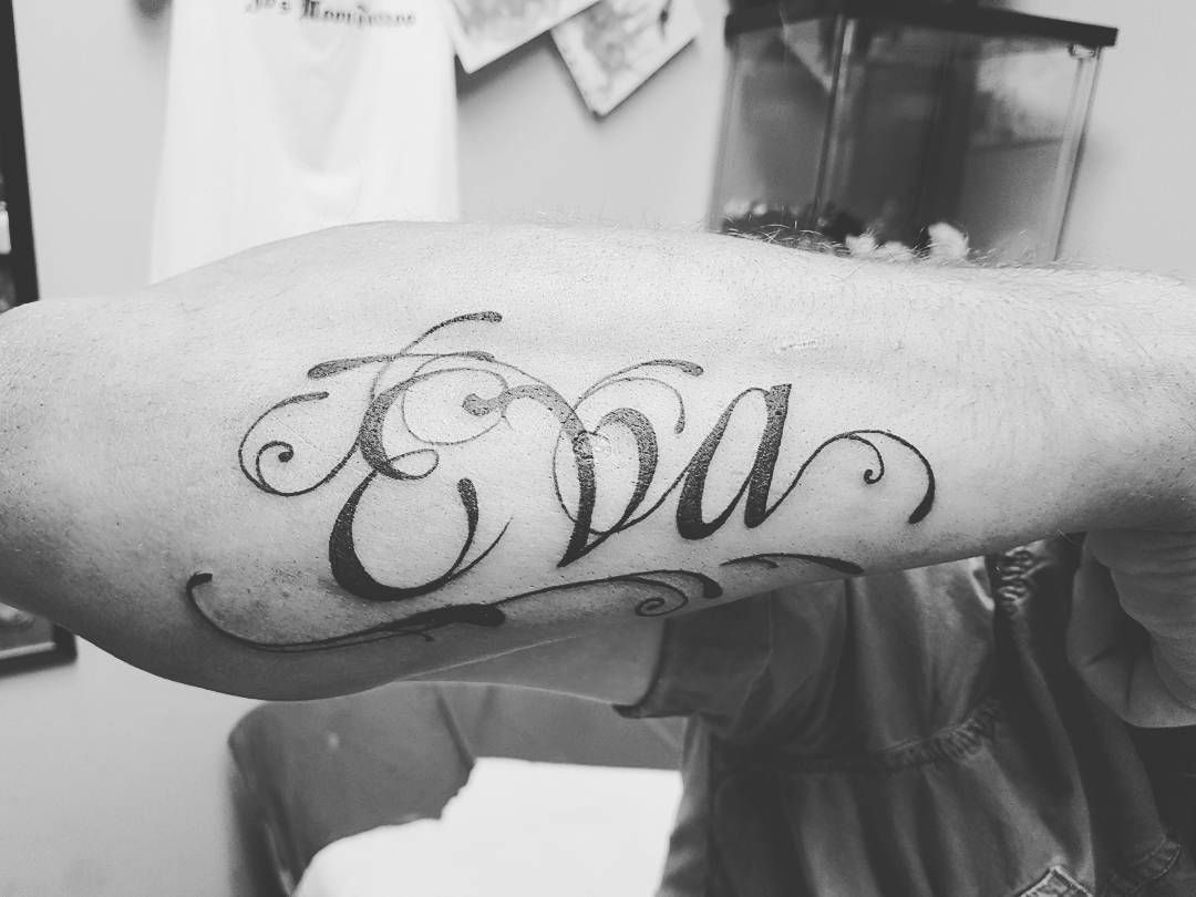 Name tattoo by josmoon #josmoontattoo #tattoo #tattooworld