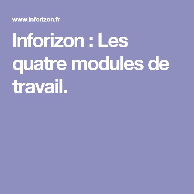 Inforizon Les Quatre Modules De Travail