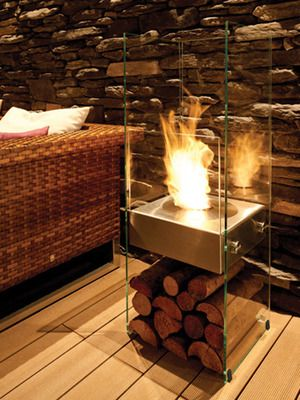 Modern Chic Unique Fireplace! Great Idea! Ghost by Eco Smart Fire on