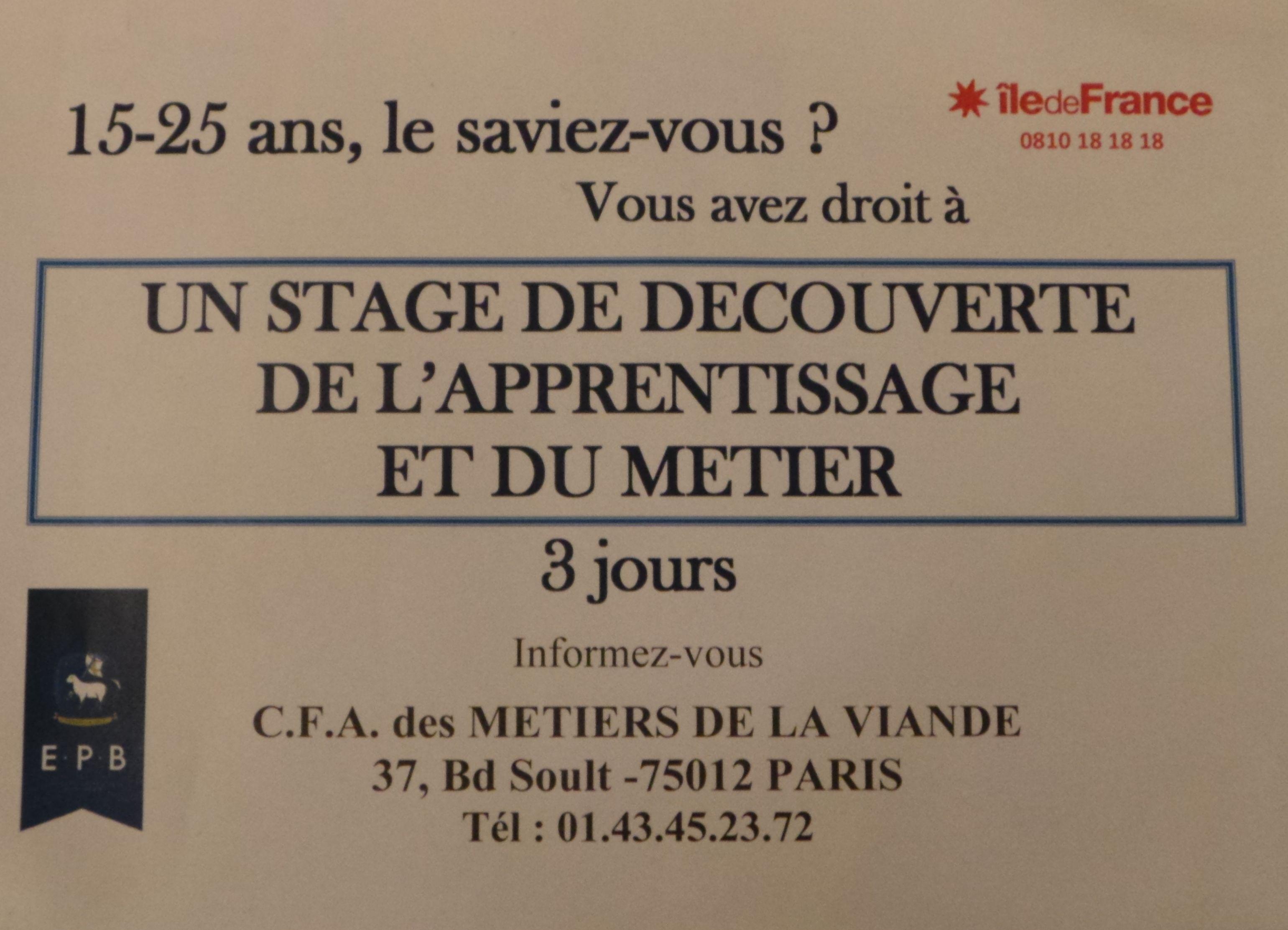 Autour De La Cuisine Cfa Des Metiers De La Viande Stage De