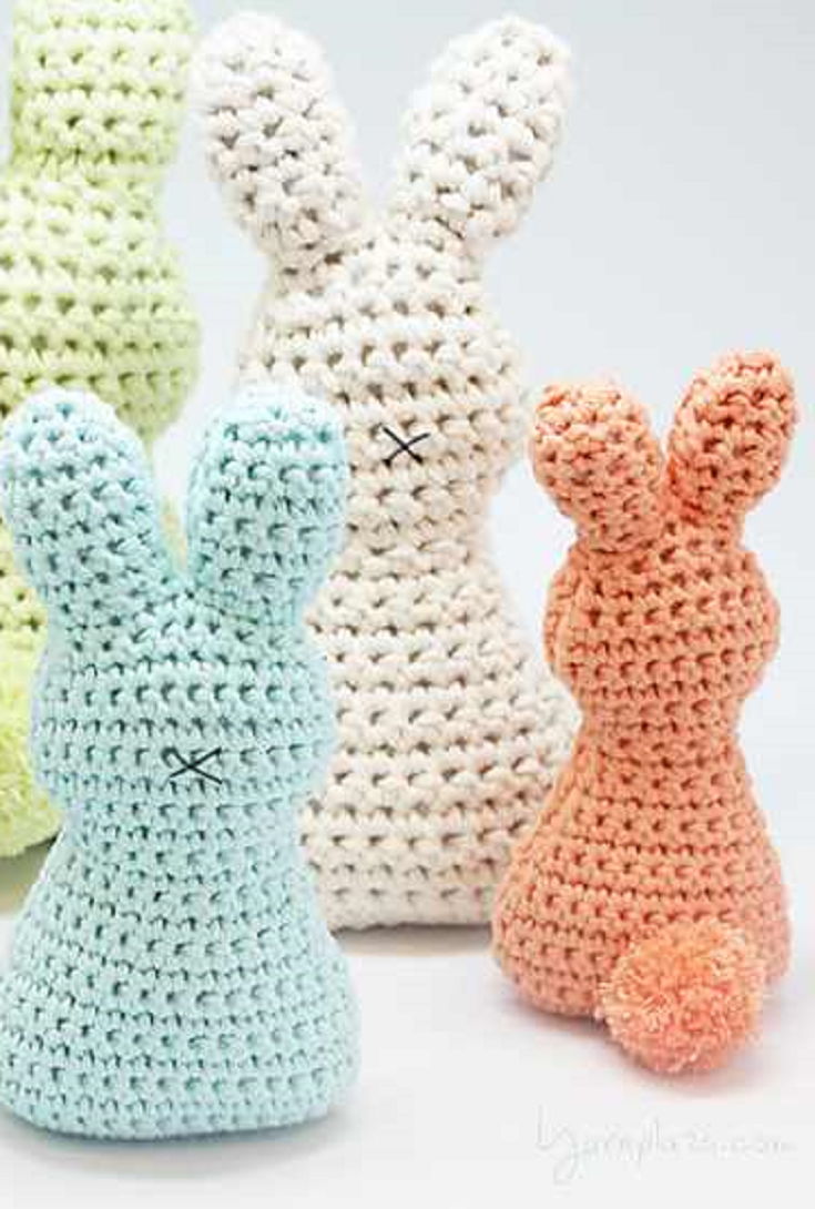 Crochet Pattern Super Cute And Super Easy Easter Bunny With Pom Pom
