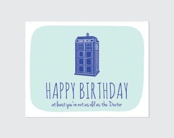 Popular Items For Doctor Who Birthday On Etsy Doctor Who Birthday Birthday Card Printable Funny Birthday Cards