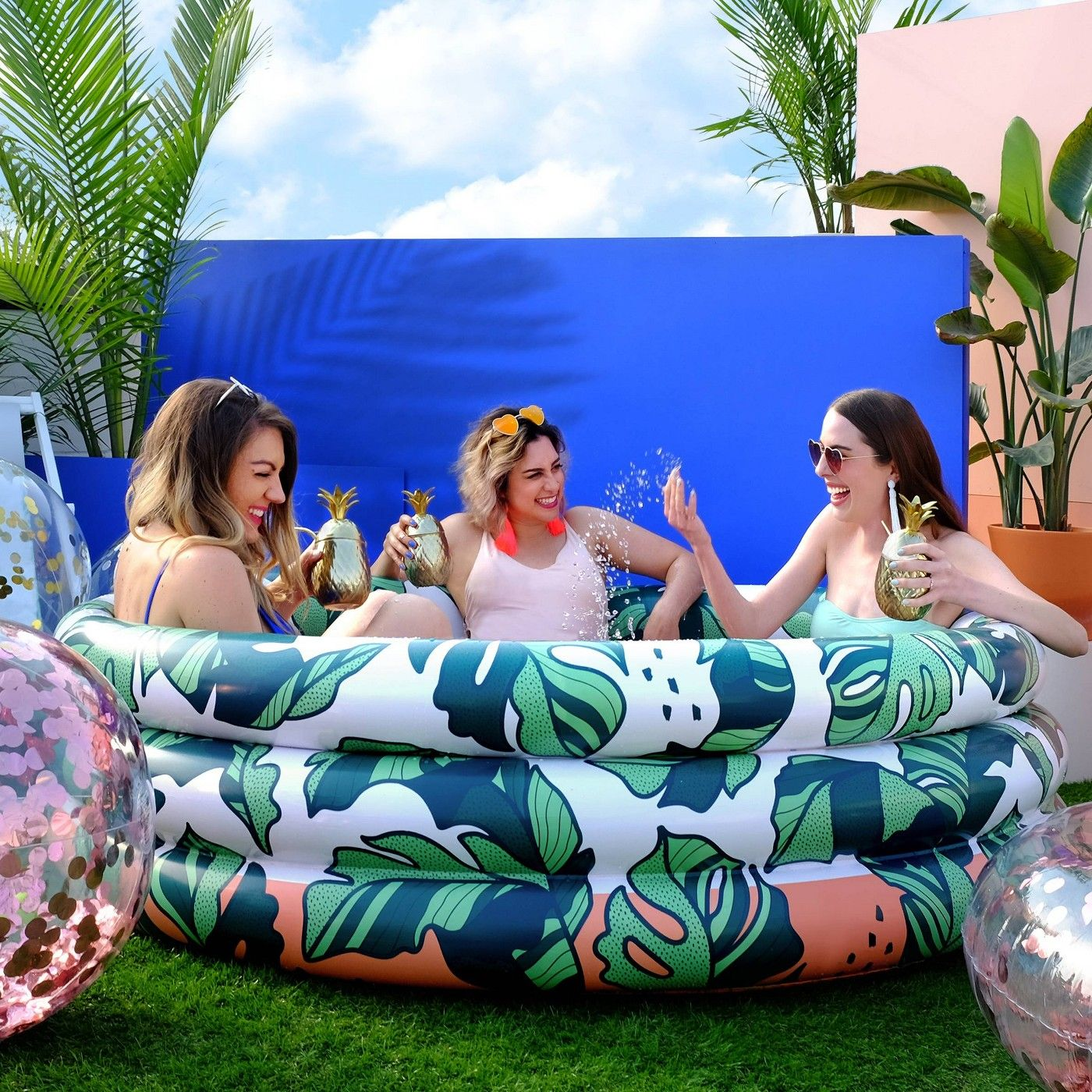 Minnidip Pool That S Banana Leaves Target Blow Up Pool Inflatable Pool Mini Pool