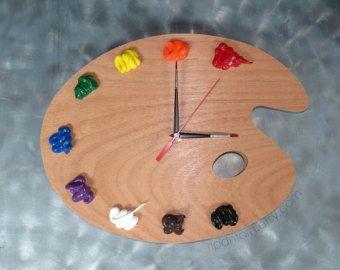 Artist Palette Clock, 3D Paint on Wood Pallet Pallette ...