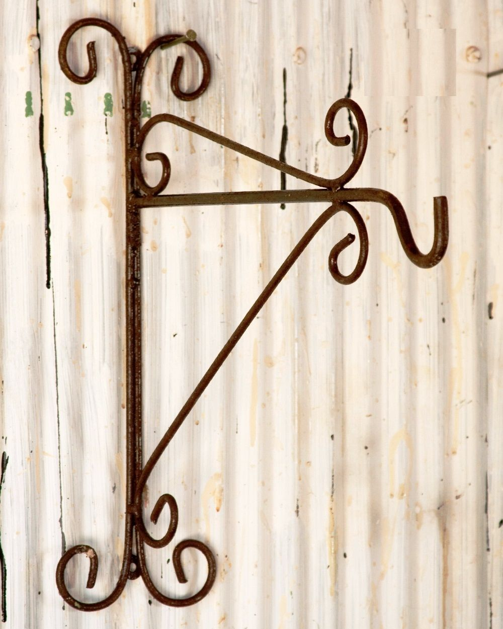 Wrought Iron Plant Hook Wall Bracket With Images Wrought