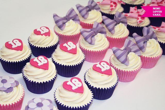 18th Birthday Cupcakes Birthdays Buttercream Decorating And Lemon