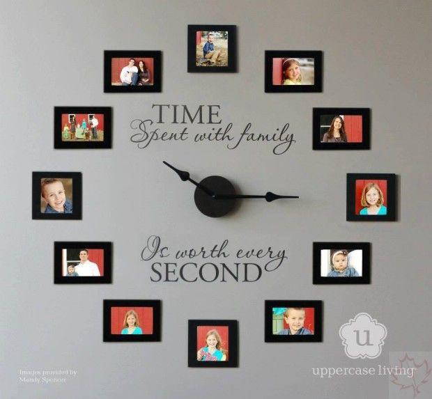 Diy Wall Clock Ideas Mb Desire Diy Ideas Diy Clock Wall Photo Wall Clocks Family Photo Wall