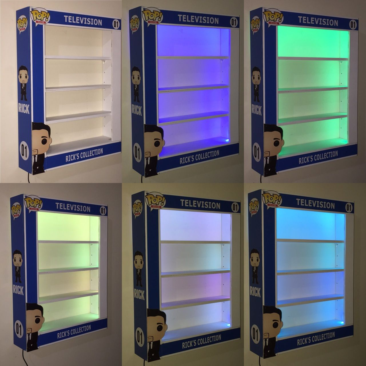 Custom Pop Display Case With Led Lights Awesome Toyz Funko Pop