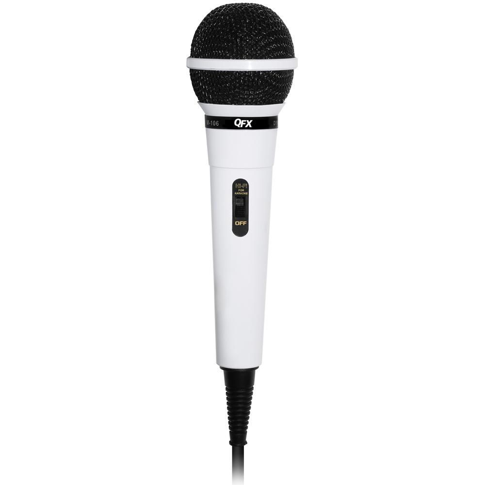 QFX Dynamic Professional Microphone- White