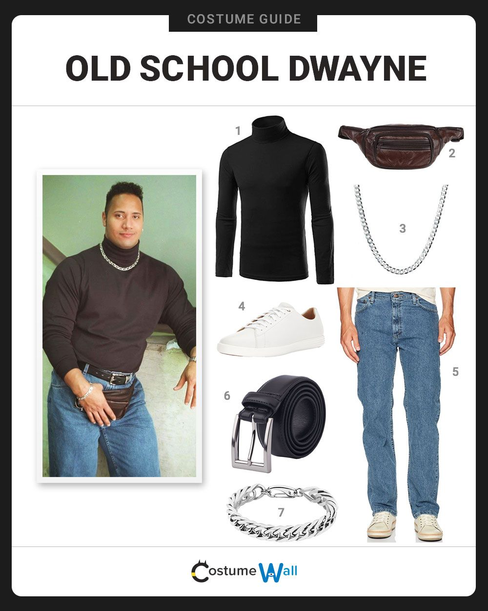 Dress Like Old School Dwayne Costume And Cosplay Guide Meme