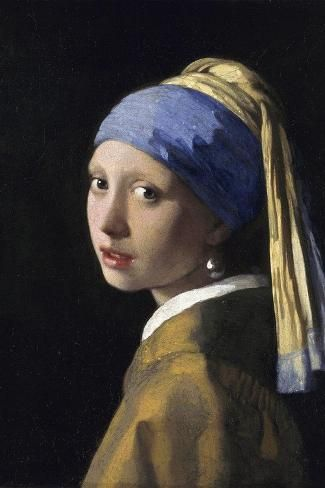 'Girl With A Pearl Earring' Giant Art Print - Johannes Vermeer | Art.com