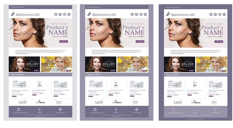Email Template for a skincare eCommerce site  by Luisaferd | Email