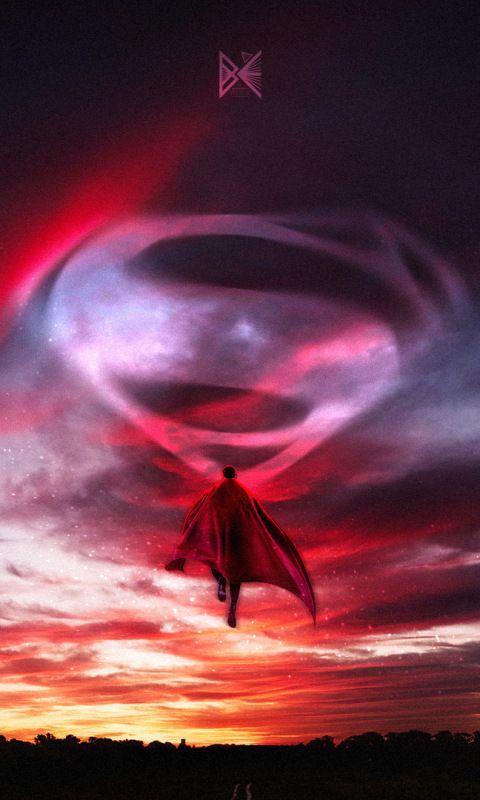 Superman A Hope Artwork Flight Dc Comics 480x800 Wallpaper Superman Wallpaper Hope Artwork Superhero Wallpaper