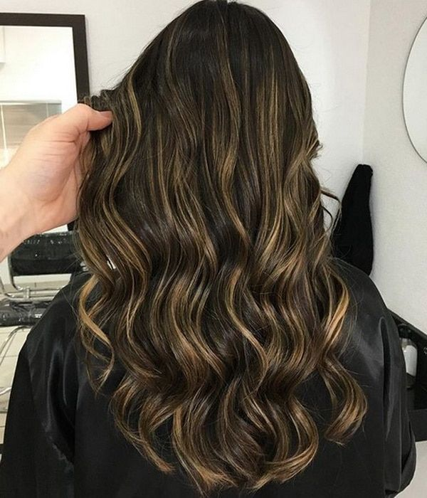 Dark Brunette Hair Color 20182019 with Golden Blonde Highlights  Hairstyles Ideas in 2019