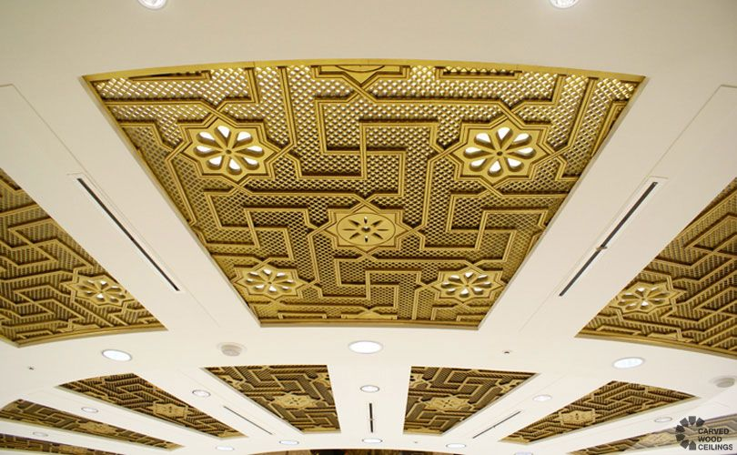 Stupendous Carved Ceiling Construction Projects Oran Convention Center Largest Home Design Picture Inspirations Pitcheantrous