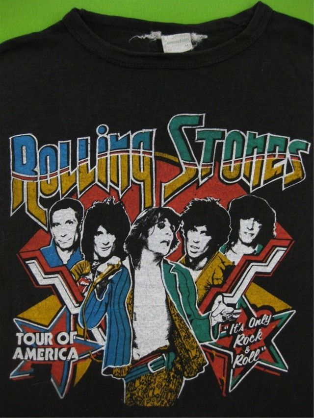 77a87a471 Original ROLLING STONES 1978 vintage tour shirt by rainbowgasoline Vintage  Band Tees