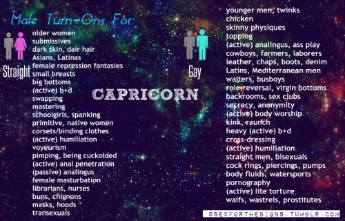from Harley can capricorns be gay