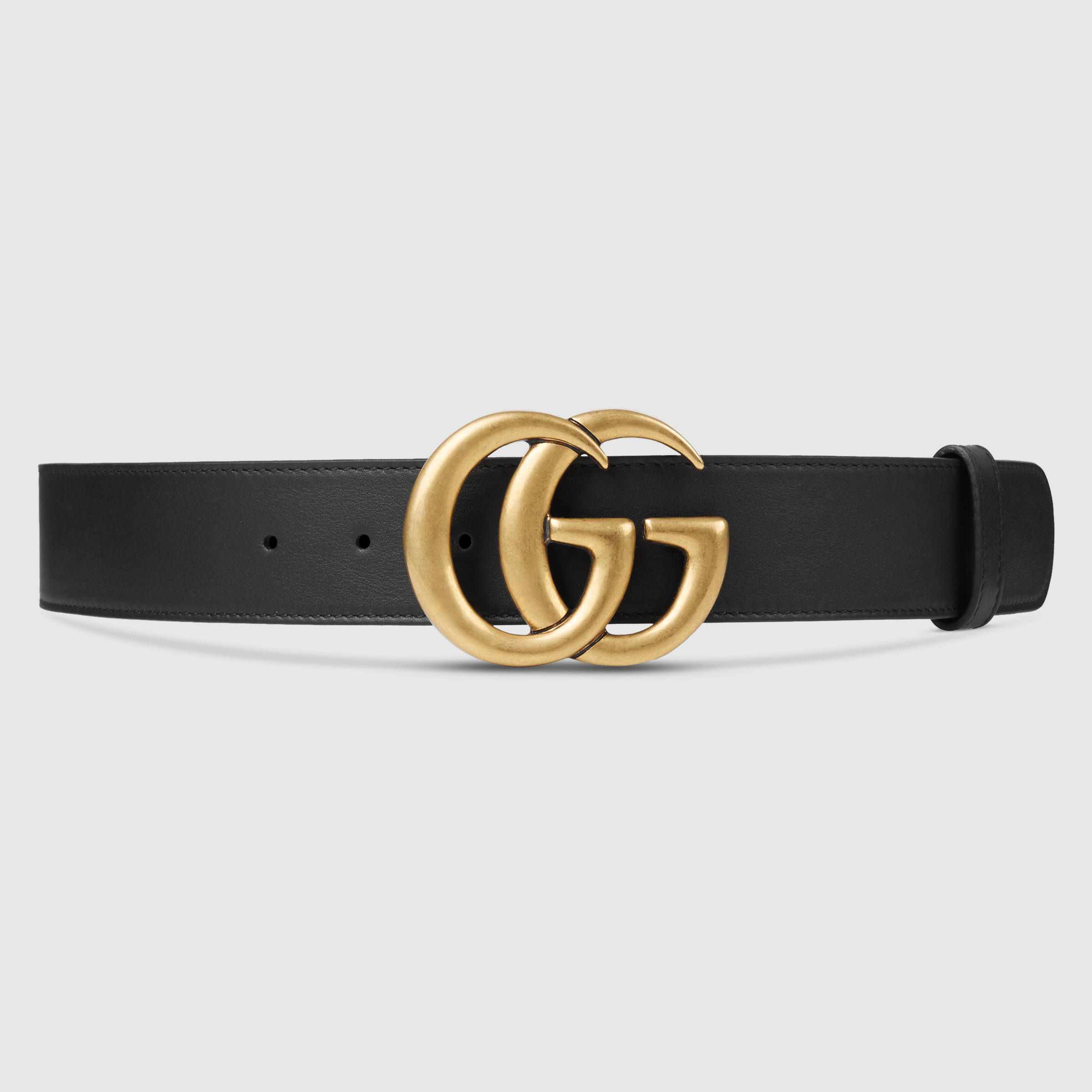 bcf33c324 Gucci Women - Gucci Black Leather belt with double G buckle - $420.00
