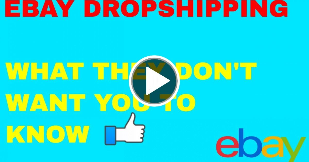 Dropshipping on eBay Step by Step 2019 - Best Noob Checklist - VIRAL CHOP  VIDEO | Noob, Drop shipping business, Dropshipping