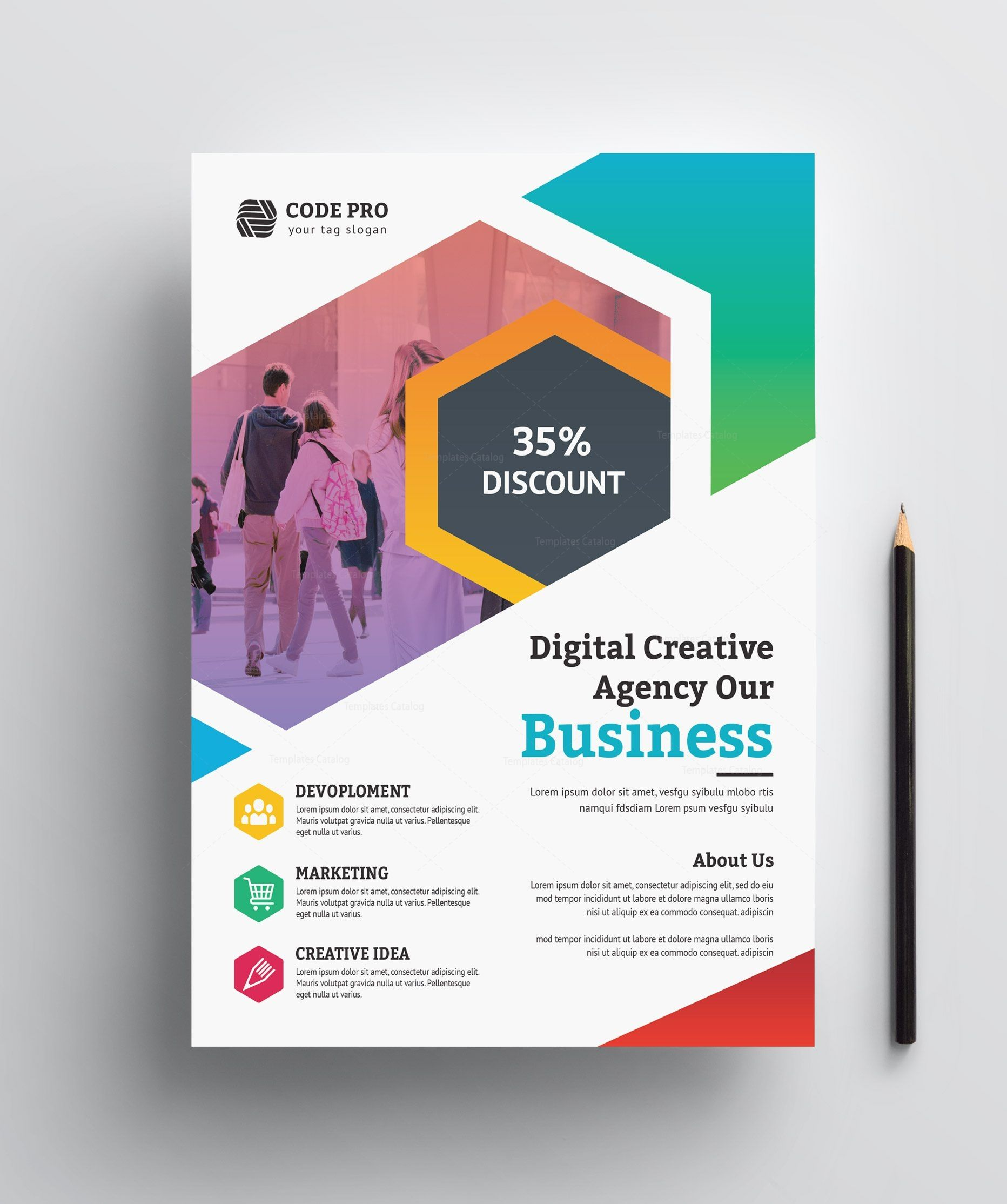 Education Business Flyer Design - Graphic Templates