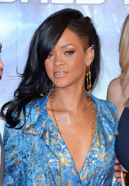 rihanna long hairstyles layered black wavy hair style