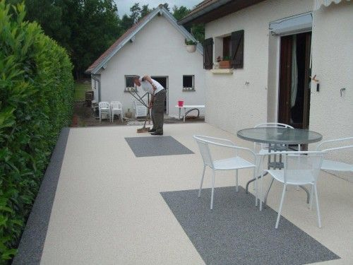 revetement renovation permeable resine de sol jardins balcons terrasses r sibat soft. Black Bedroom Furniture Sets. Home Design Ideas