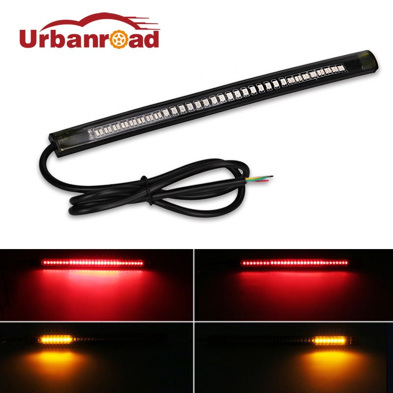1pc universal flexible brake tail stop light led strip motorcycle 1pc universal flexible brake tail stop light led strip motorcycle led tail light turn signal brake aloadofball Image collections