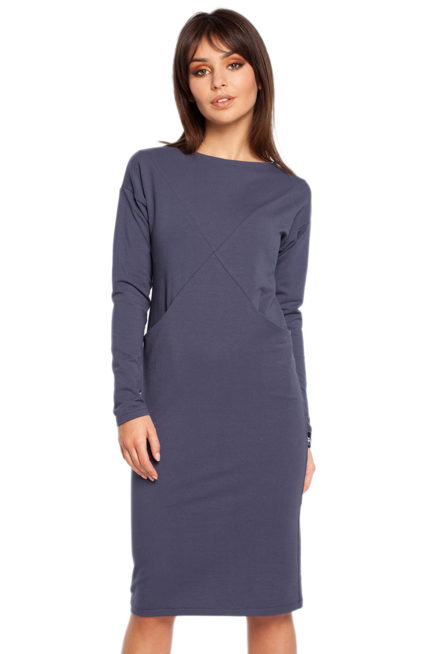 Prosta Sukienka Z Ciekawymi Przeszyciami I Kieszeniami Kobieta Odziez Sukienki Sukienki Shop Dresses For Work Dresses Fashion