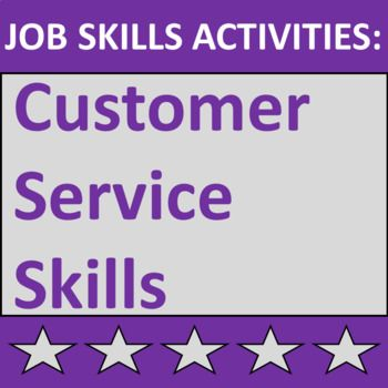 job skills activities teach students about providing excellent