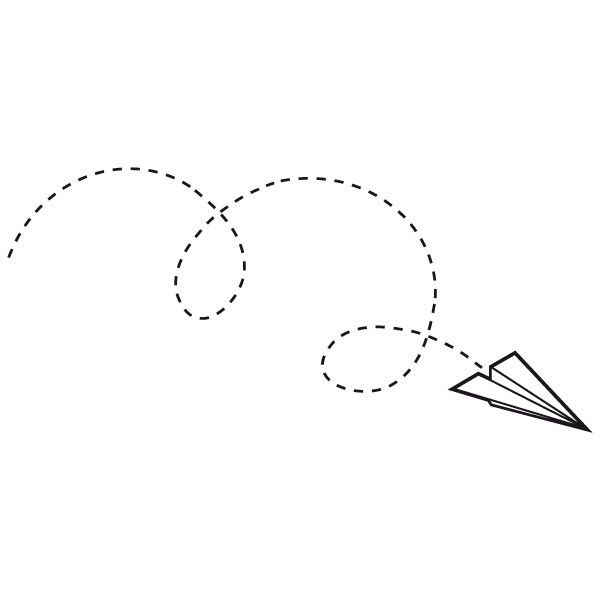 Sticker avion en papier stickers design avion en papier - Avion en papier tatouage ...