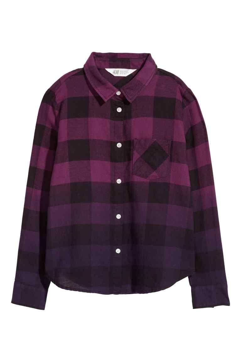 d7774a26cd5d0fb Фланелевая рубашка | смена fw1819 bookworm | Purple plaid shirt ...