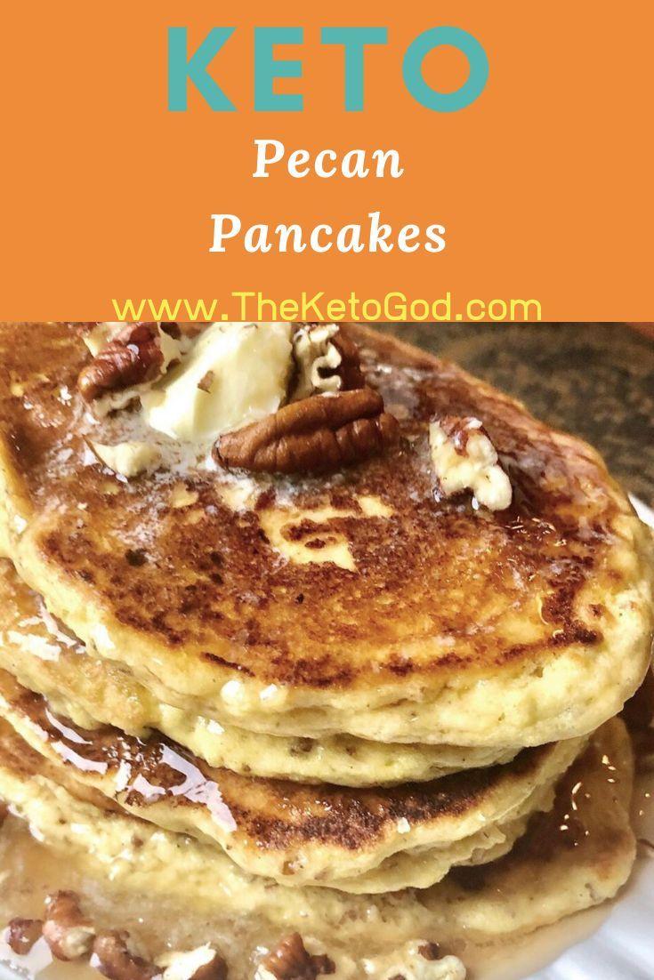 Keto Low Carb Pancakes w/ Pecans Recipe