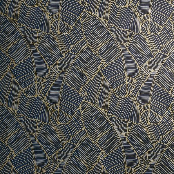 cb2 palm gold blue wallpaper Google Search Modern
