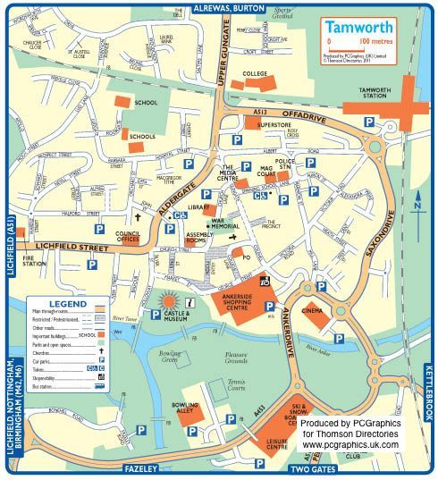 Tamworth map Places I have been Pinterest Tamworth