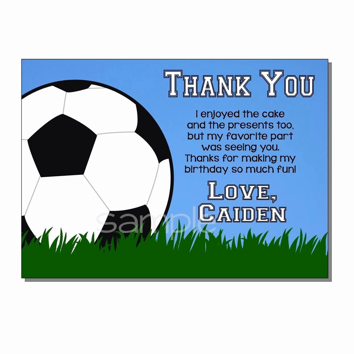 Soccer Birthday Card Unique Funny Thank You Notes